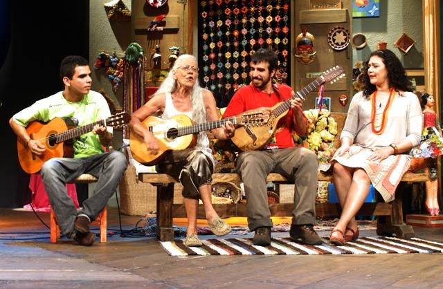 Quarteto de gaitas e Doroty Marques gravam com Rolando Boldrin programas para o Sr. Brasil (3/5)