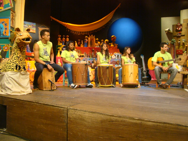 Quarteto de gaitas e Doroty Marques gravam com Rolando Boldrin programas para o Sr. Brasil (4/5)